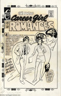 "Original Comic Art:Covers, Mike Vosburg (attributed) - Original Art Cover for Career GirlRomances #74 (Charlton, 1973). The artboard measures 14"" x 22..."