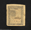 Colonial Notes:Delaware, January 1, 1776, 18d, Delaware, DE-74, XF. This is a very ...