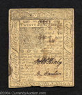 Colonial Notes:Delaware, January 1, 1776, 20s, Delaware, DE-80, XF-AU. There is a ...
