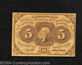 Fractional Currency:First Issue, First Issue 5c, Fr-1230, Choice CU. Deep yellow tones are ...