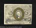 """Fractional Currency:Second Issue, Second Issue 5c, Fr-1233, Choice CU. This """"18-63"""" surcharge ..."""