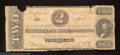 Confederate Notes:1862 Issues, 1862 $2 Judah P. Benjamin, T-54, Good. There is no graffiti on ...