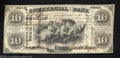 Obsoletes By State:Indiana, 1858 $10 Commercial Bank, Terre Haute, IN, Extremely Fine-...