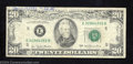Error Notes:Offsets, 1977 $20 Federal Reserve Note, Fr-2072-E, Fine-Very Fine. This ...