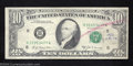 Error Notes:Miscellaneous Errors, 1969-A $10 Federal Reserve Note, Fr-2019-H, Very Fine. This is ...