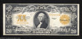Large Size:Gold Certificates, 1922 $20 Gold Certificate, Fr-1187, Very Fine. Nice margins ...