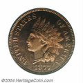 Proof Indian Cents: , 1877 1C PR66 Red Cameo PCGS. This coin is one of only two ...