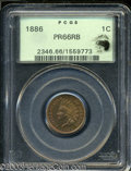Proof Indian Cents: , 1886 1C Type One PR66 Red and Brown PCGS. Eagle Eye Photo ...
