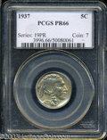 Proof Buffalo Nickels: , 1937 5C PR66 PCGS. A faint tan patina does little to ...