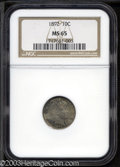 Barber Dimes: , 1892 10C MS65 NGC. Rich gray-green toning overlays Gem ...