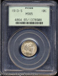 Barber Dimes: , 1913-S 10C MS65 PCGS. A popular, low mintage issue, one ...
