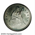 Seated Quarters: , 1875-CC 25C MS65 NGC. A scarce, low mintage issue that is ...