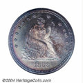 Proof Seated Quarters: , 1868 25C PR66 NGC. The Philadelphia Mint's low output of ...