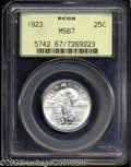 Standing Liberty Quarters, 1923 25C MS67 PCGS. A Superb Gem solid white example with ...