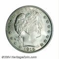 Barber Half Dollars: , 1915 50C MS64 PCGS. Nearly untoned on the obverse, the ...