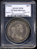 Early Dollars: , 1799/8 $1 15 Stars Reverse VF20 PCGS. B-3, BB-141, R.2. ...