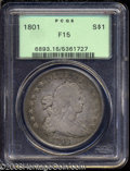 Early Dollars: , 1801 $1 Fine 15 PCGS. B-4, BB-214, High R.2. The I in ...