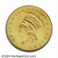 Proof Gold Dollars, 1861 G$1 PR65 PCGS. Even though 349 proofs were reported ...