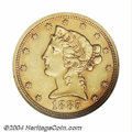 Proof Liberty Half Eagles: , 1885 $5 PR55 NGC. From an original mintage of only 66 ...