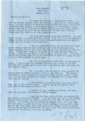 Movie/TV Memorabilia:Autographs and Signed Items, Noel Coward Signed Letter to Clifton Webb. A single-page, typed letter on Blue Harbour stationery, dated May 12, 1957, and s...