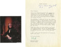 """Movie/TV Memorabilia:Memorabilia, Vincent Price """"House of Usher"""" Large-Format Slide and Letter fromMark Damon. Taking gothic horror to a new level, Price's p..."""