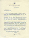 Movie/TV Memorabilia:Autographs and Signed Items, Richard Nixon Signed Letter to Clifton Webb. A single-page, typedletter on Office of the Vice President stationery, dated A...