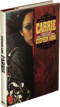 Books:First Editions, Stephen King: Carrie. (New York: Doubleday & Company,Inc., 1974), first edition, 199 pages, jacket by Alex Gotfryd,mar...