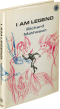 Books:First Editions, Richard Matheson: I Am Legend. (New York: Walker and Co.,1970), first hardcover edition, 122 pages, white boards with b...