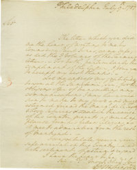 George Washington Superb Autograph Letter Signed: Thanking Hector St. John de Crevecoeur for his letter delivered by &qu...