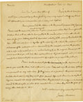 Autographs:U.S. Presidents, James Madison Excellent Autograph Letter Signed: A year before the 1824 Presidential election, Madison writes an old friend ...