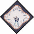 Music Memorabilia:Memorabilia, Elvis Presley Framed Handkerchief. Elvis-themed handkerchief, circa 1956, with a picture of the King and titles from some of...