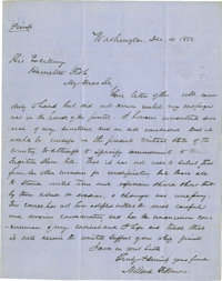 Millard Fillmore Historically Important Autograph Letter Signed: The President explains to his friend, fellow New York W...