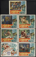 "Movie Posters:Adventure, Tarzan's Magic Fountain (RKO, 1949). Title Lobby Card (11"" X 14"")and Lobby Cards (6) (11"" X 14""). Action Adventure. Starrin...(Total: 7 Items)"