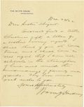 Autographs:U.S. Presidents, Warren G. Harding Superb Rare Autograph Letter Signed: ThePresident sends a gift for Christmas to his sister, one of hismi...