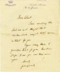 Autographs:U.S. Presidents, John F. Kennedy Excellent Early Autograph Letter Signed: The23-year-old Harvard graduate, in Rio de Janeiro on vacation, se...