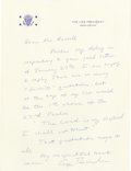 """Autographs:U.S. Presidents, George H.W. Bush Religious Autograph Letter Signed: """"There are so many 'favorite' quotations; but at the top of my list wo..."""