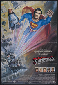 """Superman IV: The Quest for Peace (Warner Brothers, 1987). One Sheet (27"""" X 40""""). Sci-Fi Action. Starring Chris..."""