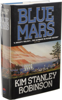 Kim Stanley Robinson: Blue Mars. (London: Harper Collins, 1996), first UK edition, 616 pages, blue cloth with silver let...