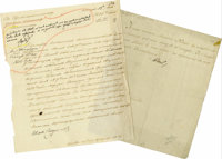 """Lot of Two Imperial Russian Documents Signed Paul I of Russia, """"Paul I"""" as tsar, one page in French 7.5""""..."""