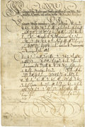 "Autographs:Non-American, Ferdinand II Document Signed as Holy Roman Emperor, two pages(front and verso) in German, 8"" x 12.25"", April 26, 1633, n.p...."