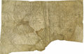 """Autographs:Non-American, Henry II of France Document Signed """"Henry"""" as king, one page in French on vellum, 16"""" x 10.75"""", April 1541, n.p.. Henry ..."""