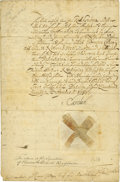 "Autographs:Non-American, Charles XI of Sweden Document Signed ""Carolus"" as king, twopages (front and verso), 8"" x 11.25"", April 2, 1676., n.p.,..."
