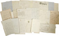 Autographs:Non-American, Group of 26 Letters Pertaining to the Bonaparte Family. From an oldcollection as follows:. Anna Murat, ALS, two pages, ... (Total: 26)