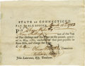 Autographs:Statesmen, Declaration Signer Oliver Wolcott ADS and Oliver Wolcott, Jr. DS. Lot consisting of two documents as follows: Oliver Wolcott... (Total: 2 )