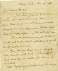 "Autographs:Military Figures, Philip J. Schuyler Autograph Letter Signed ""Ph: Schulyer"",two pages, 6 x 7.5 inches, Albany, June 29, 1795 to his niece..."