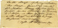 "Autographs:Statesmen, Declaration Signer William Williams ADS ""W. Williams""countersigned by Declaration signer Oliver Wolcott, one page with..."