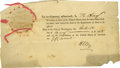 "Autographs:Statesmen, Henry Clay Fragmentary Document Signed, ""H Clay"", one page,7.5"" x 4"", Washington, D.C., May 30, 1828. This lower right ..."