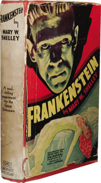 Mary Shelley: Frankenstein; or, the Modern Prometheus. (New York: Grosset & Dunlap, [1930s]), 240 pages, red cloth w...