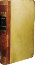 Books:Non-American Editions, Mary Shelley: Lodore Brussels Edition. (Brussels: AD.Wahlen, Printer to the Court, 1835), 396 pages, half-leather w...
