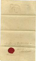 "Autographs:Non-American, Kamehameha IV Document Signed ""Kamehameha"" as King ofHawaii, two pages, 8.5 x 14 inches, Honolulu, April 1, 1856, i..."
